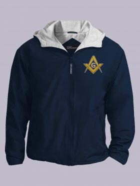 Freemasonry navy jacket featured