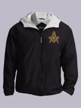 Masonic Embroidered black jacket featured