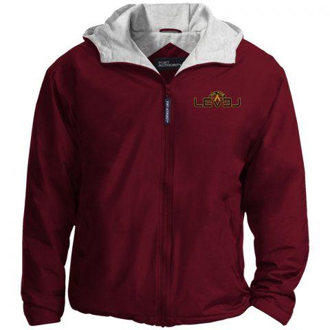 On The Level Embroidery Masonic Jacket OTL maroon jacket