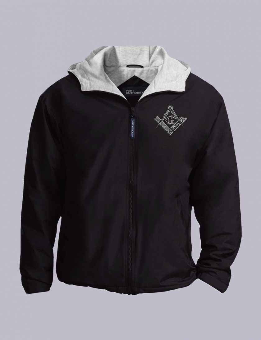 Square Compas Masonic Embroidered Jacket Black ft