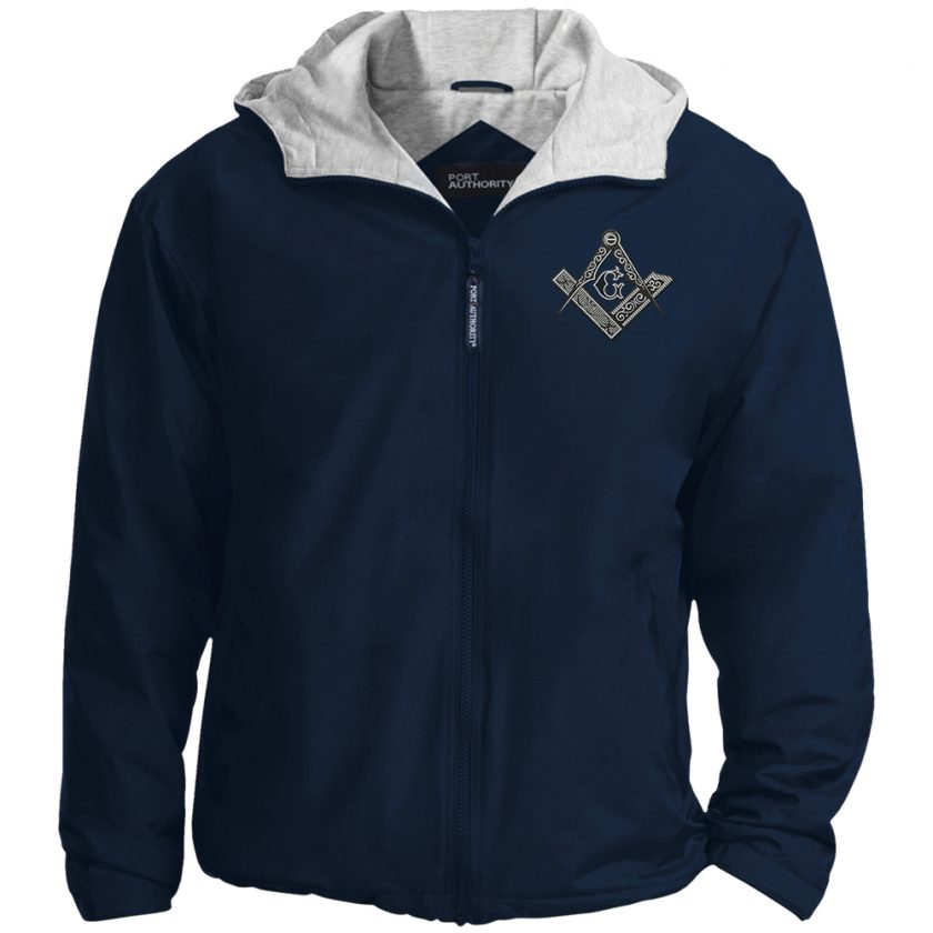 Square Compas Masonic Embroidered Jacket Navy