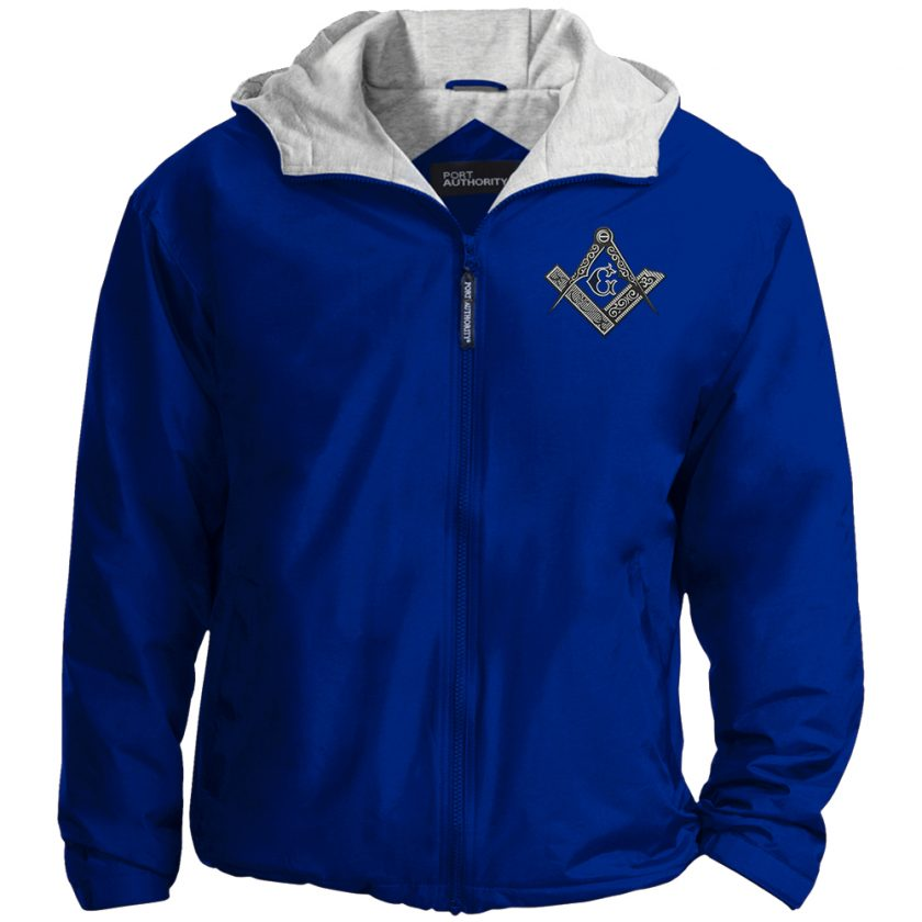 Square Compas Masonic Embroidered Jacket Royal
