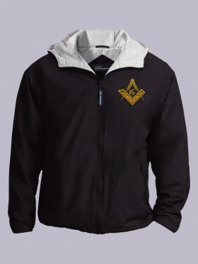 Vintage Masonic Emblem black jacket featured