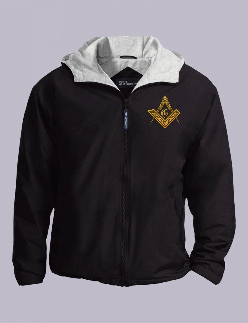 Vintage Masonic Emblem black jacket featured
