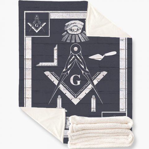 Masonic Tools Fleece Blanket k3