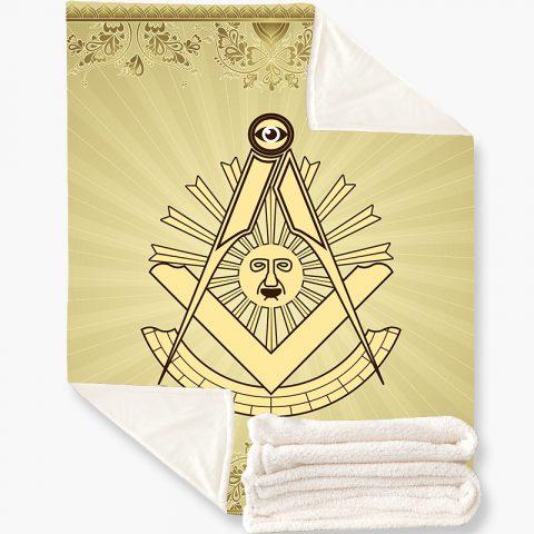 Past Master Masonic Fleece Blanket k4