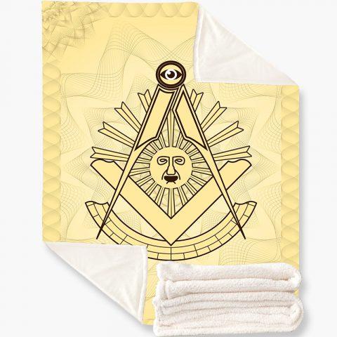Past Master Masonic Fleece Blanket 1 k7