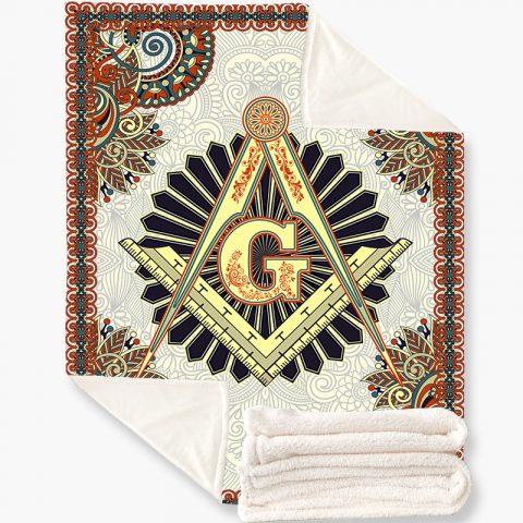 Vintage Masonic Fleece Blanket m8