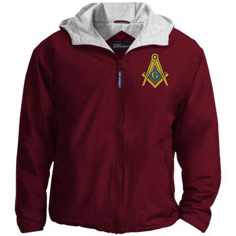 Masonic Freemason Embroidered Jacket masonic jacket maroon