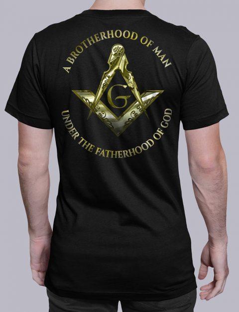A Brotherhood Of Man Masonic T-shirt A Brotherhood Of Man 2 back black shirt back 14