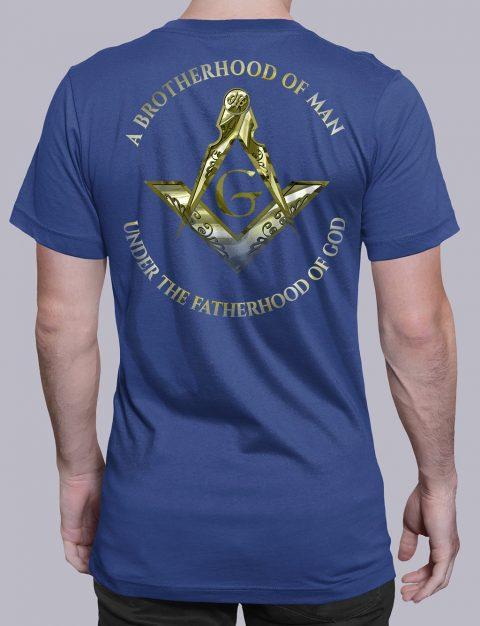 A Brotherhood Of Man Masonic T-shirt A Brotherhood Of Man 2 back royal shirt back 14