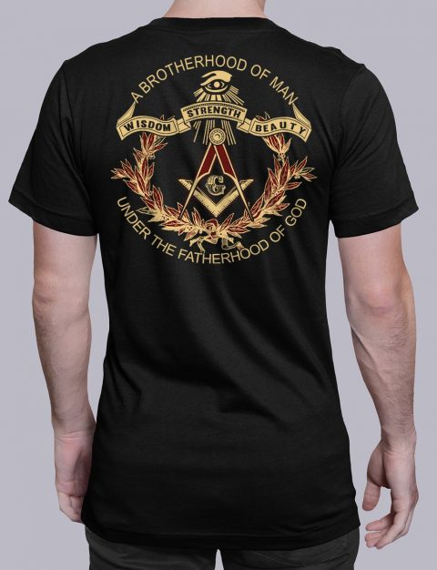 A Brotherhood Of Man Freemason T-shirt A Brotherhood Of Man back black shirt back 2