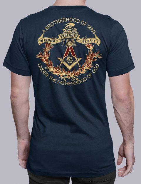 A Brotherhood Of Man Freemason T-shirt A Brotherhood Of Man back navy shirt back 2
