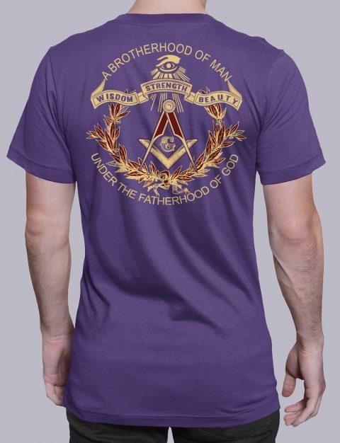 A Brotherhood Of Man Freemason T-shirt A Brotherhood Of Man back purple shirt back 2