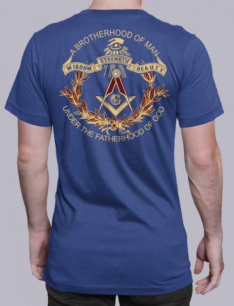 A Brotherhood Of Man Freemason T-shirt A Brotherhood Of Man back royal shirt back 2