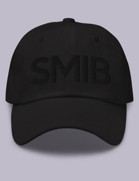 SMIB Masonic Hat Black Embroidery Embroidery SMIB masonic hat black black