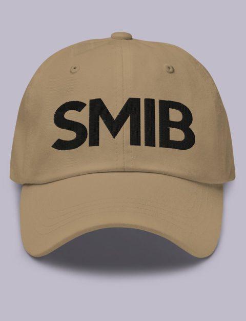 SMIB Masonic Hat Black Embroidery Embroidery SMIB masonic hat khaki black