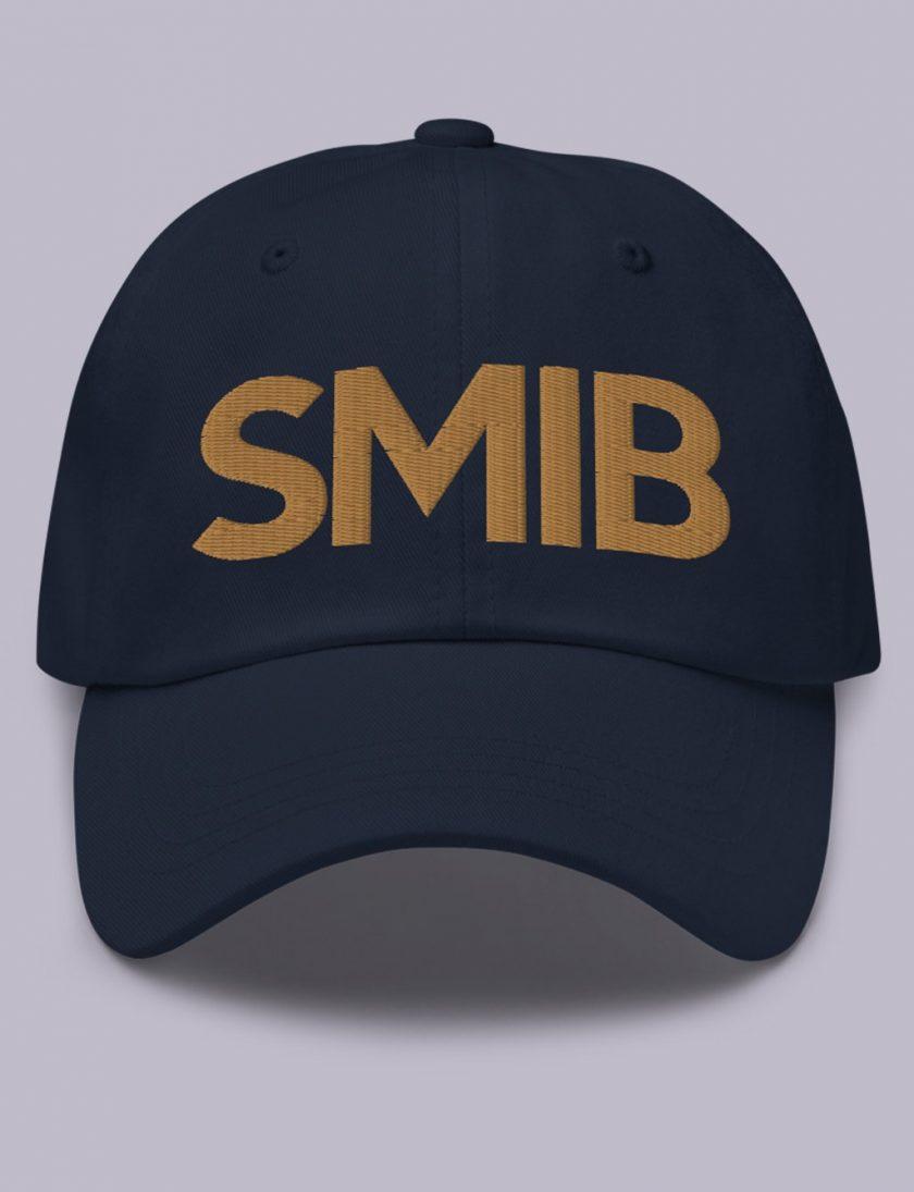 Embroidery SMIB masonic hat navy