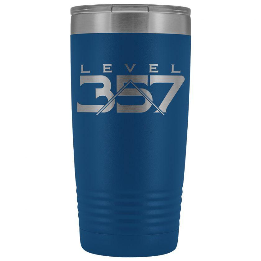 Level 357 Masonic 20oz Blue Tumbler