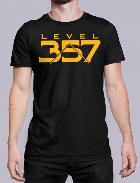 Level 357 Masonic T-shirt Level 357 front black shirt 17