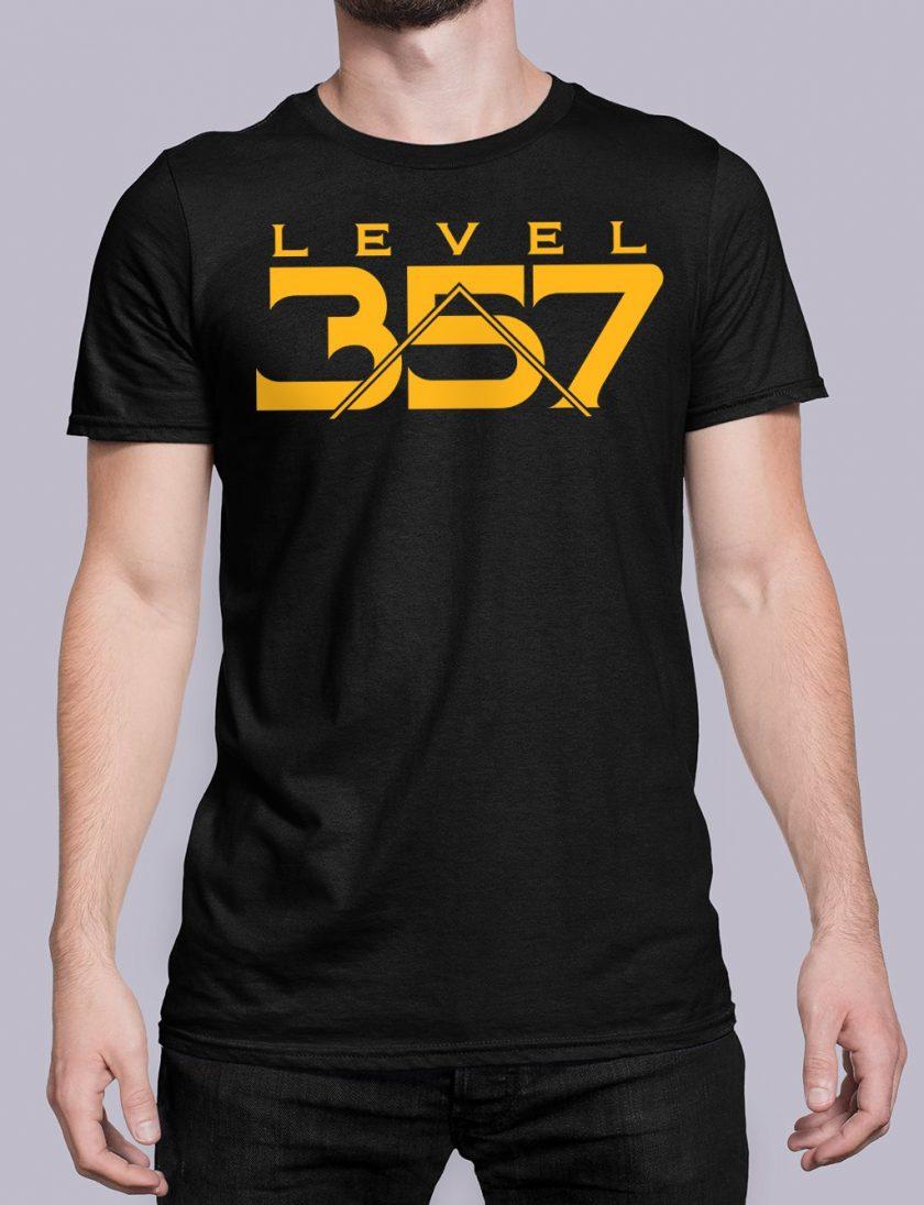 Level 357 front black shirt 17