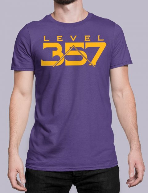 Level 357 Masonic T-shirt Level 357 front purple shirt 17