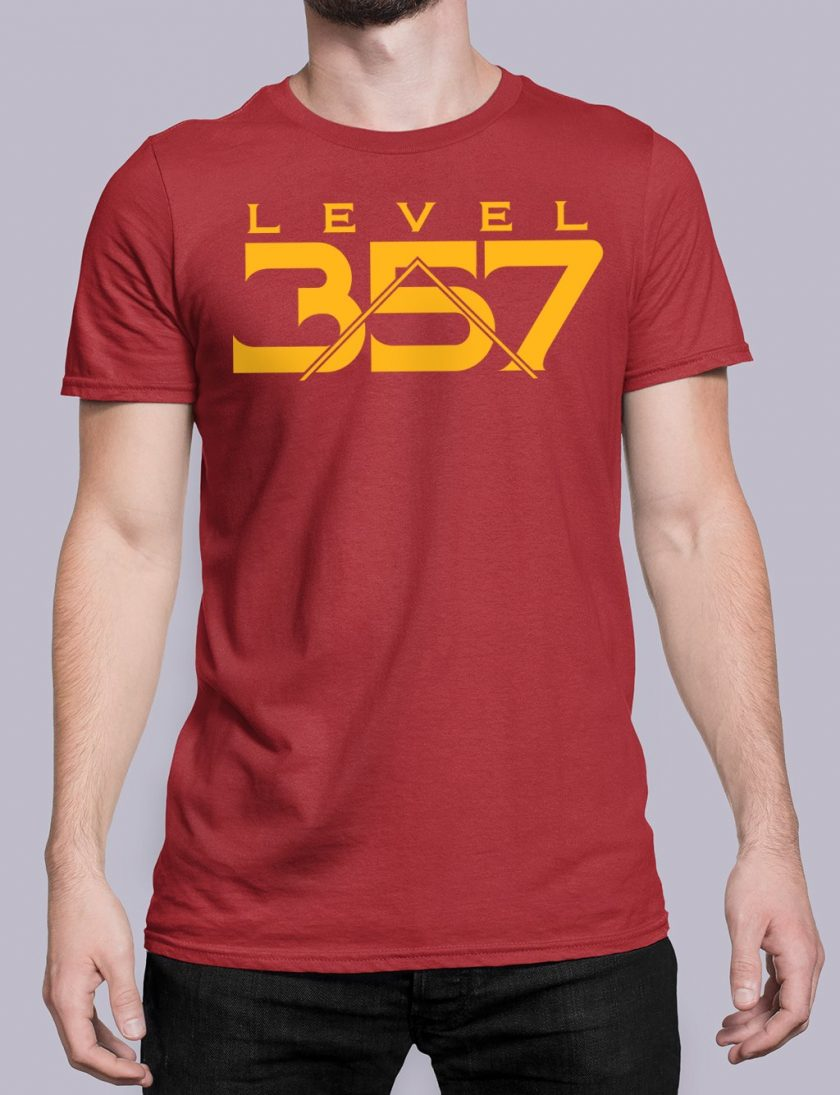 Level 357 front red shirt 17