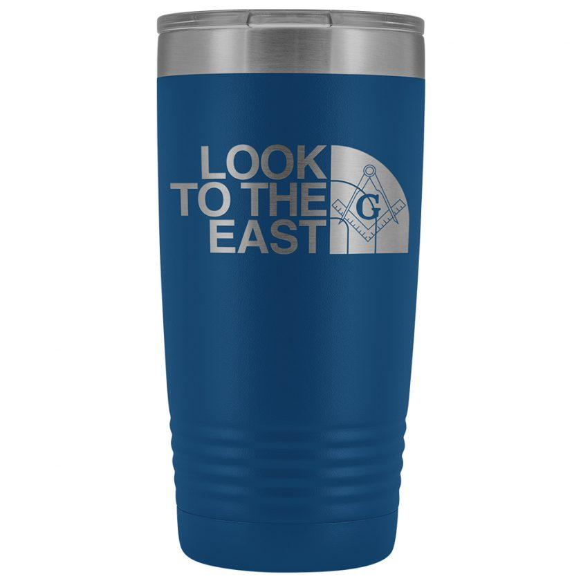 LooK To The East Masonic 20oz Tumbler Blue