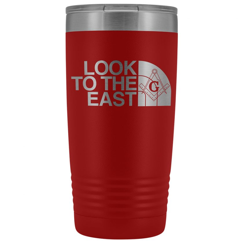LooK To The East Masonic 20oz Tumbler Red