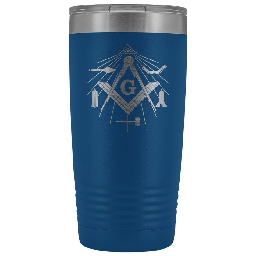 Masonic Tools 20oz Blue Tumbler