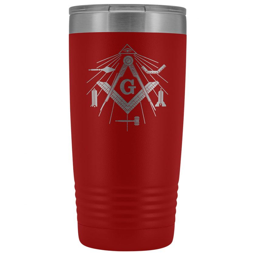 Masonic Tools 20oz Red Tumbler