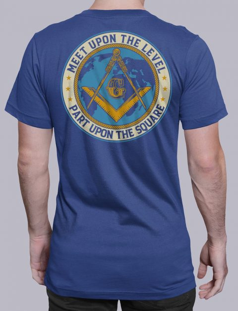 Meet Upon The Level Masonic T-shirt Meet Upon The Level. Part Upon The Square royal shirt back 8