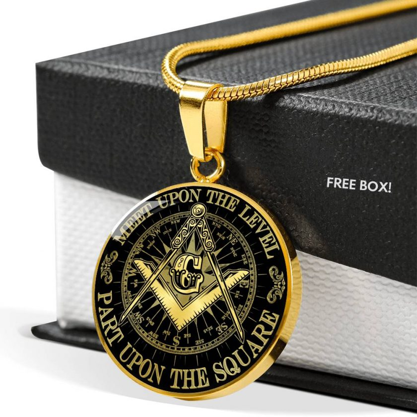 Part Upon The Square Freemason Necklace 3