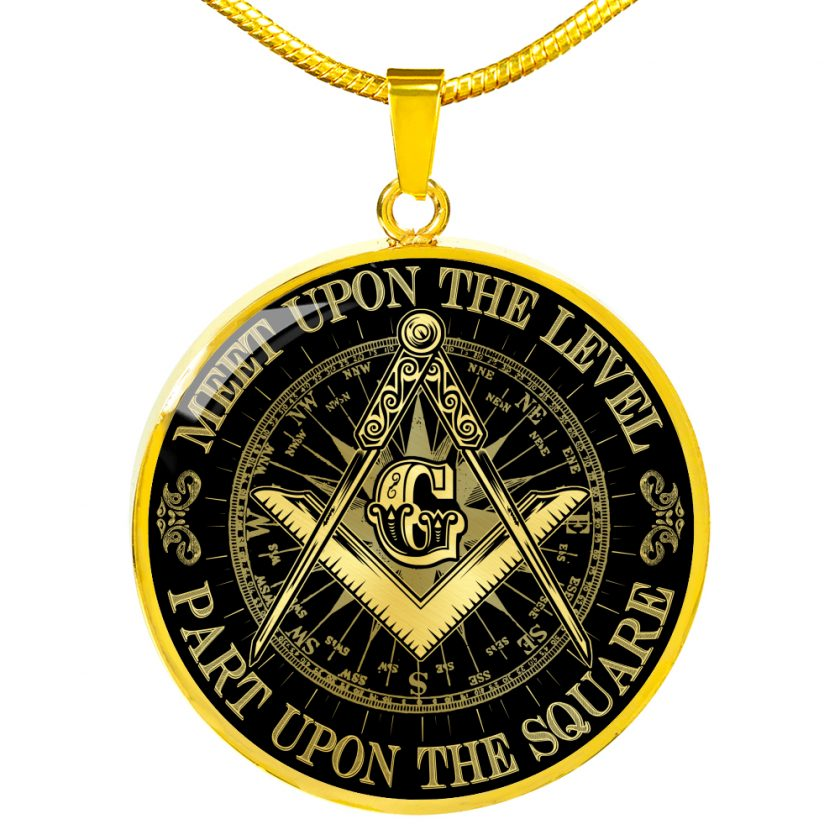 Part Upon The Square Freemason Necklace