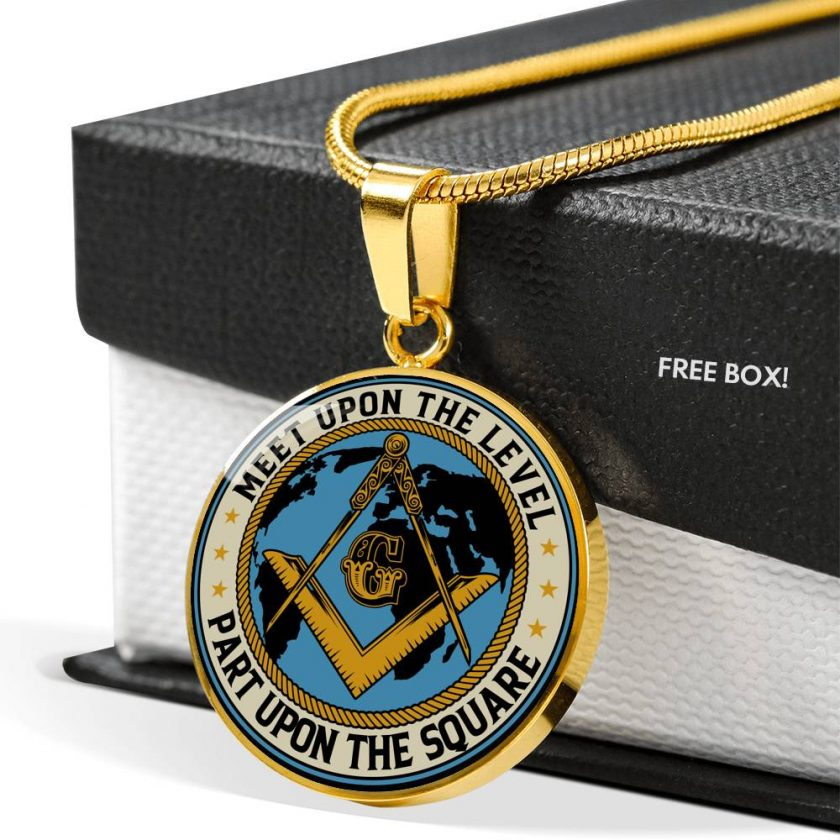 Part Upon The Square Masonic Necklace 1