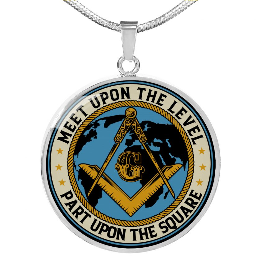 Part Upon The Square Masonic Necklace 2
