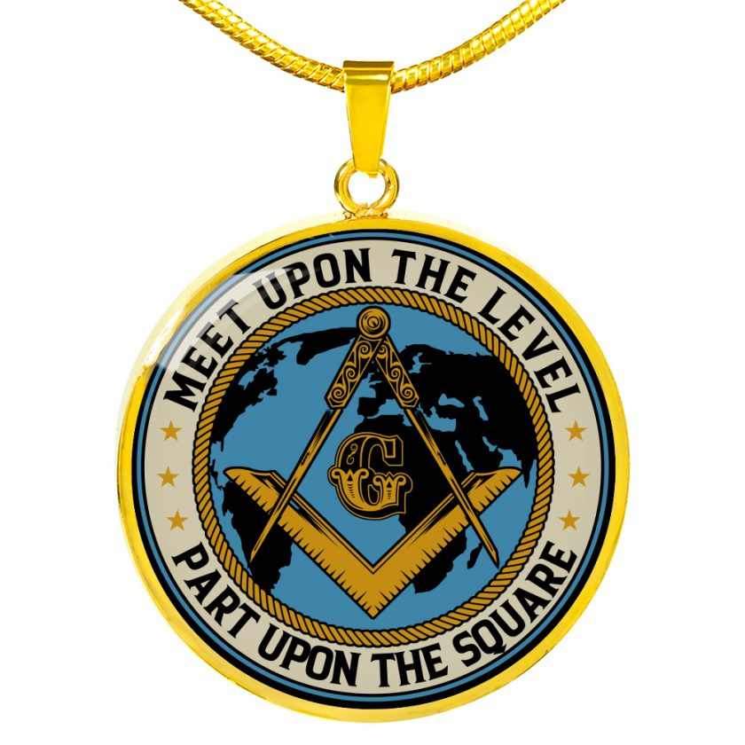 Part Upon The Square Masonic Necklace 3