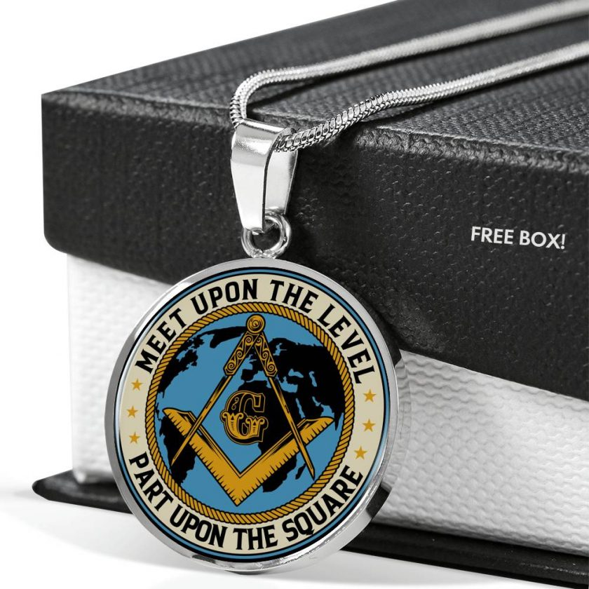 Part Upon The Square Masonic Necklace