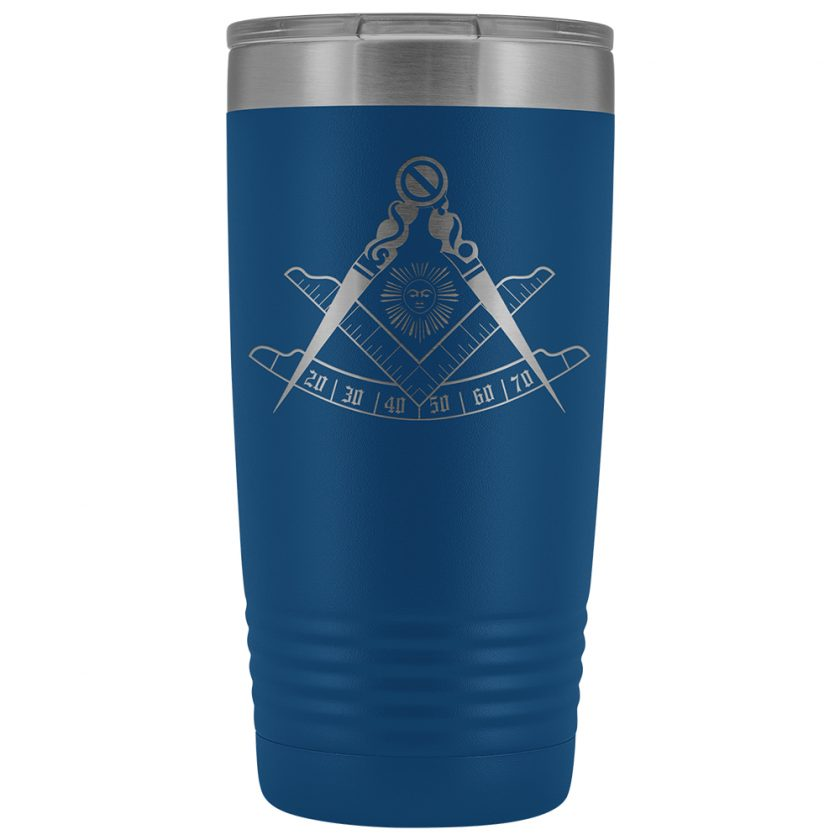 Past Master Masonic 20oz Tumbler Blue
