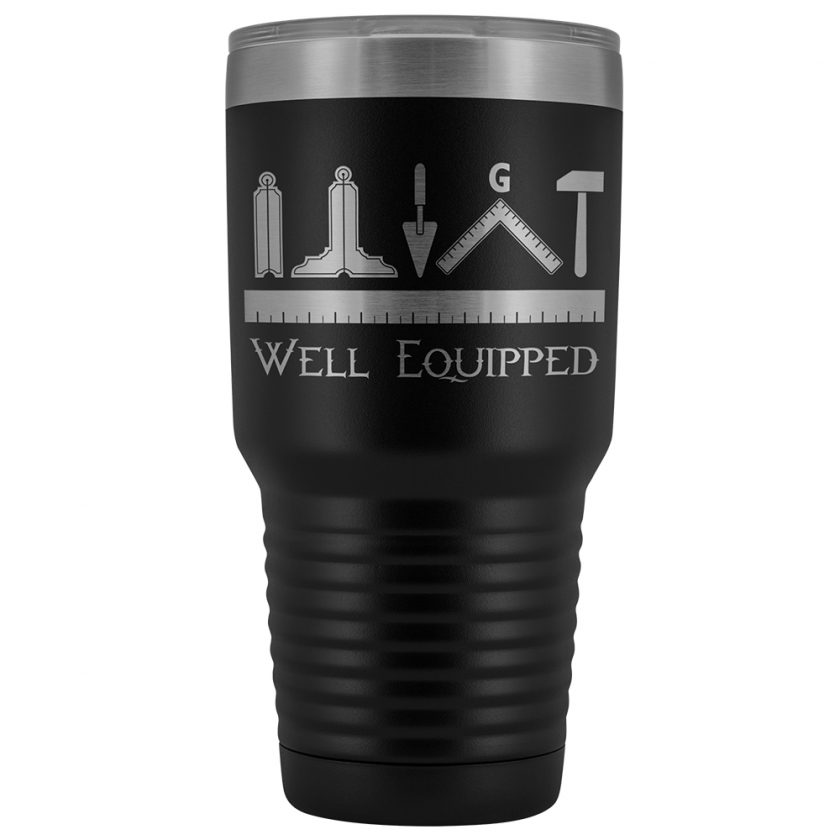 Well Equipped Masonic 30oz Tumbler Black