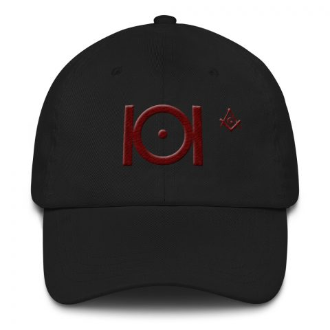 Masonic Hat 3D Puff Embroidery mockup 0fb269d9