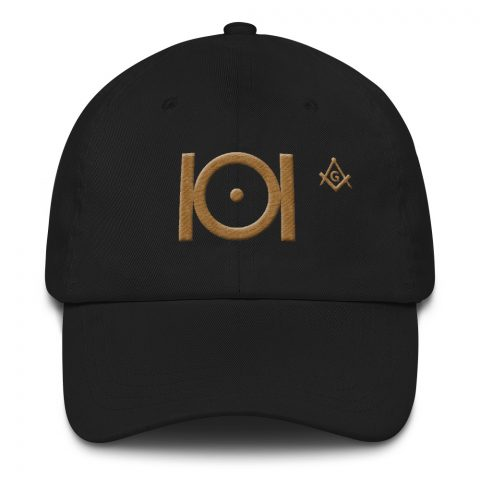 Masonic Hat 3D Puff Embroidery Old Gold mockup bce50c82