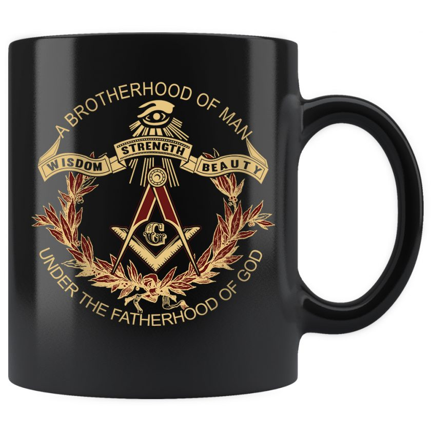 A Brotherhood Of Man Freemason mug