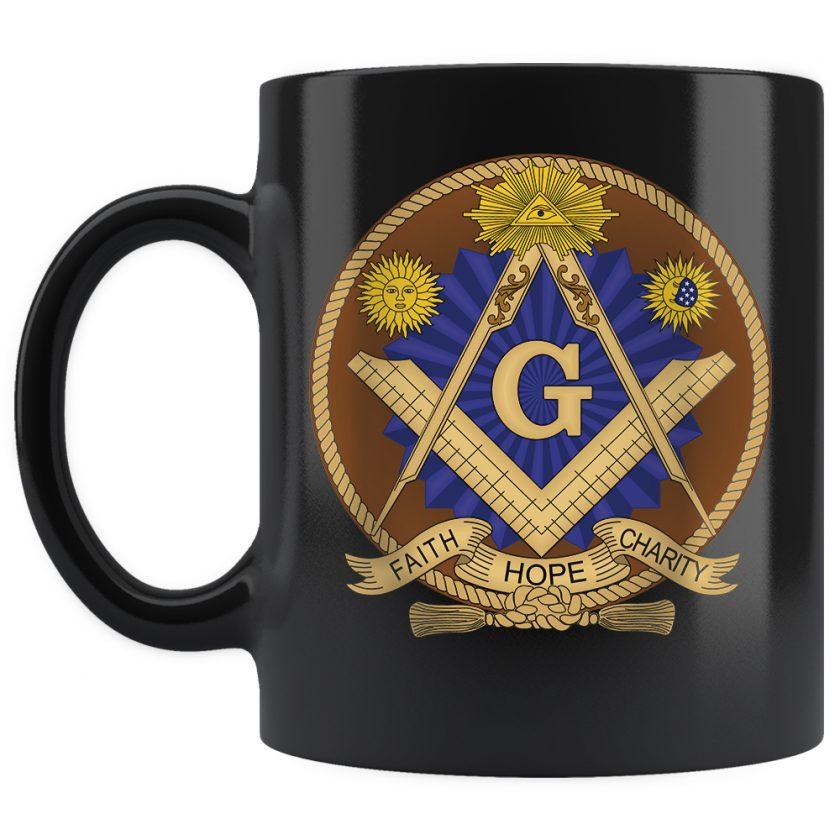 Faith Hope and Charity Masonic mug 11oz