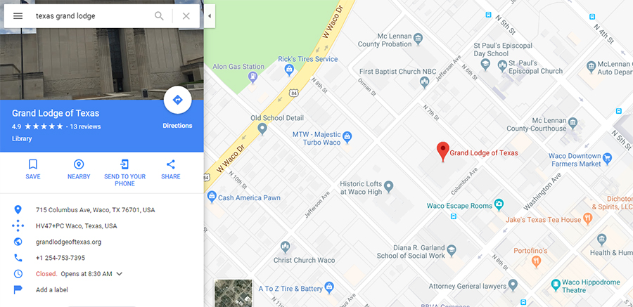 How to find masonic grand lodge