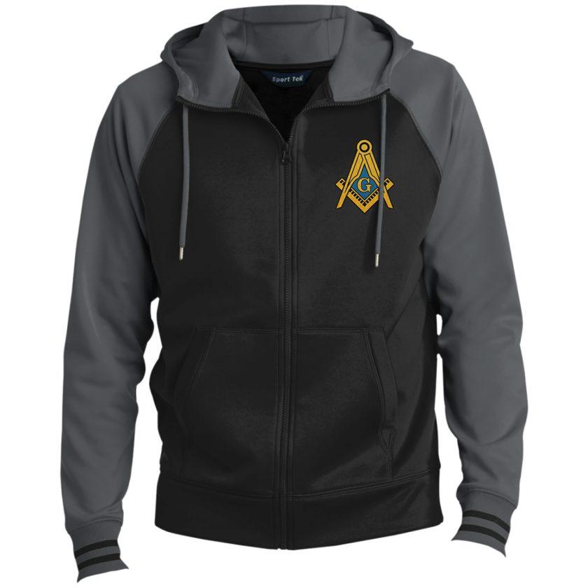 Freemason Symbol Hooded Masonic Jacket