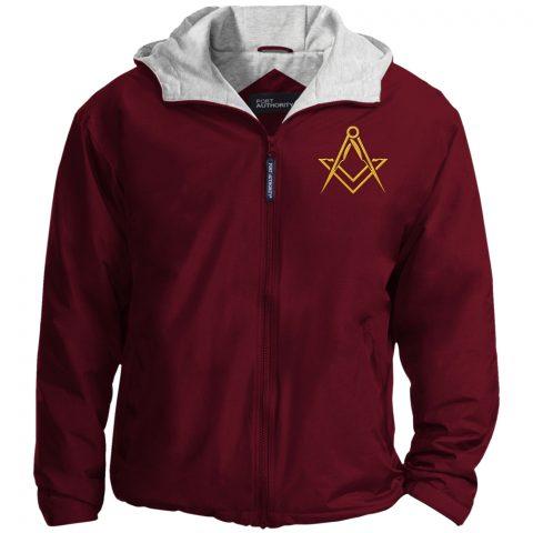 Masonic Symbol Embroidered Masonic Jacket Masonic Symbol Embroidered Jacket Maroon