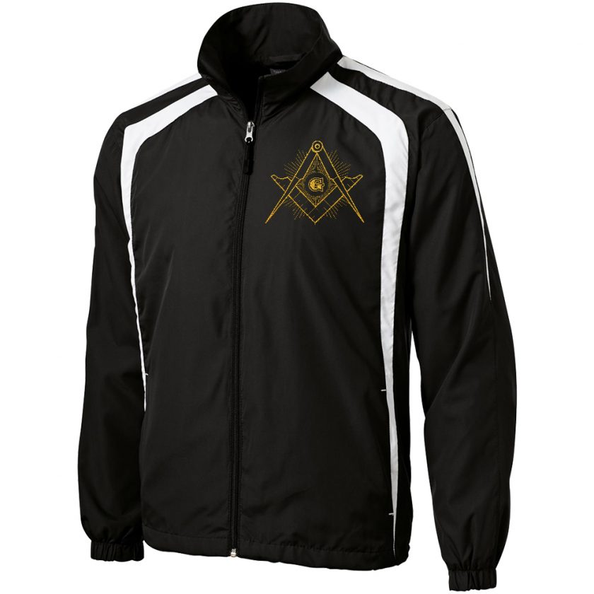 Master Mason black white unhooded jacket