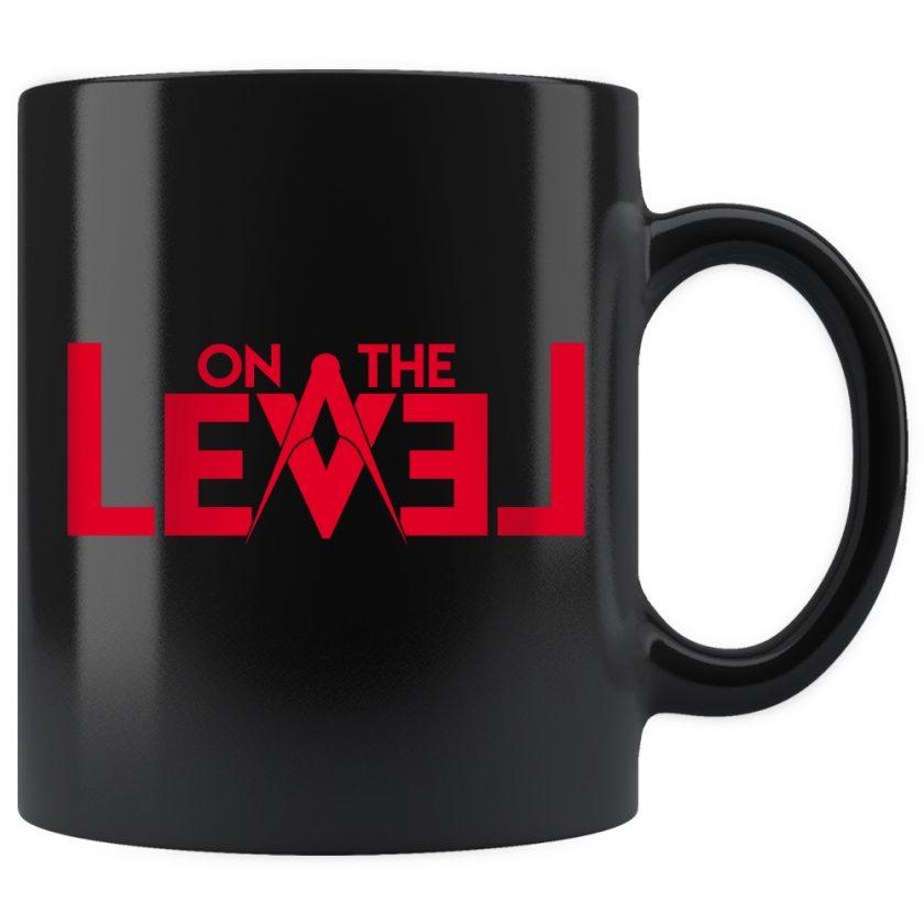 On The Level Masonic Mug