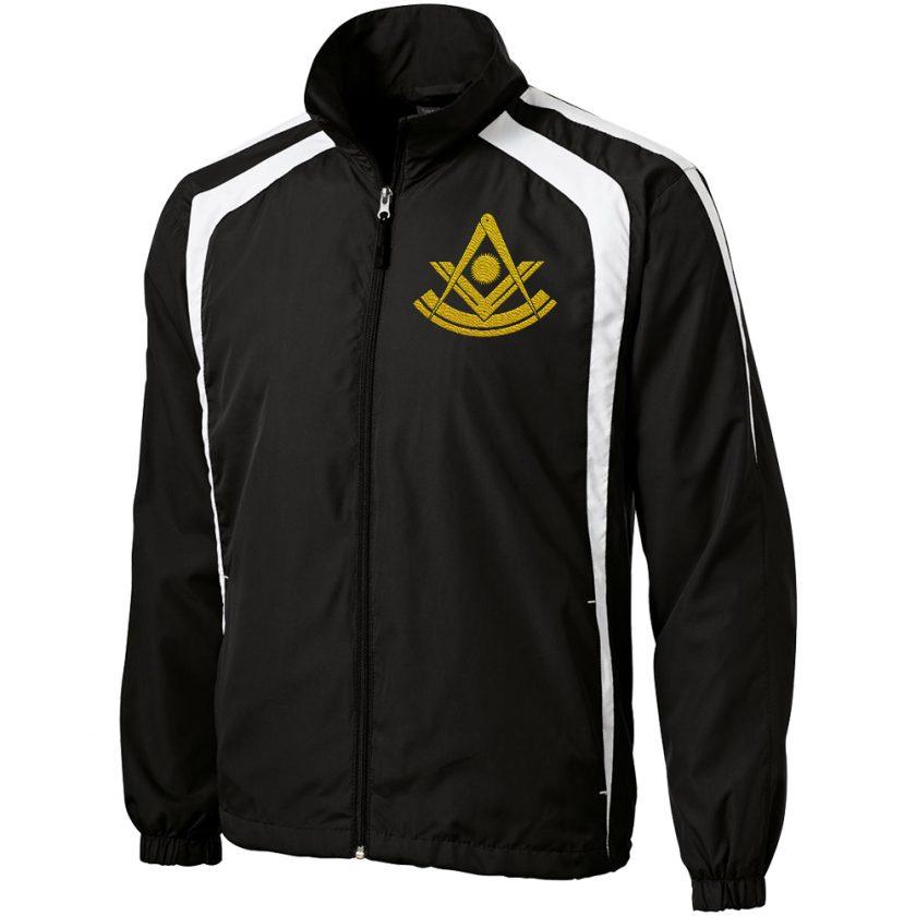 Past Master Freemason Masonic black white unhooded jacket new